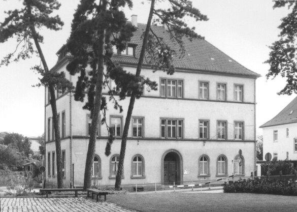 Aufnahme der alten Ölbergschule in Offenburg